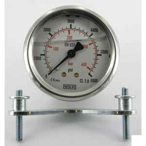 Webtec Manometer Ø 63 mm 400bar/6000psi RVS behuizing-achteraansl. - MA63400AM | 0 400 bar | 63 mm
