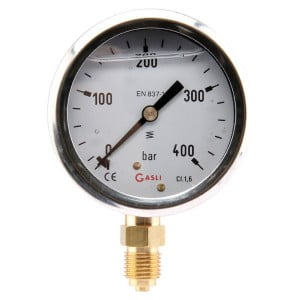 "Manometer Ø63 0-400bar ¼"" onde - MA63400L04SSGF 