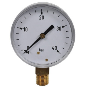 "Gasli Manometer Ø63 0-40bar ¼"" onder - MA6340L04SS 