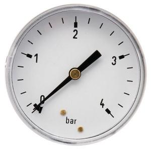 "Gasli Manometer Ø63 0-4bar ¼"" achter - MA634B04ST | Achter | 0 4 bar | 63 mm"