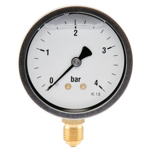 "Manometer Ø63 0-4bar ¼"" onder - MA634L04SSGF 