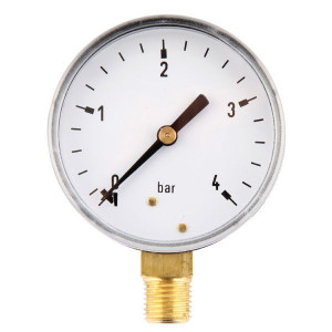 "Gasli Manometer Ø63 0-4bar ¼"" onder - MA634L04ST 