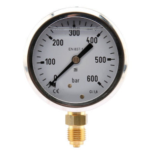 "Manometer Ø63 0-600bar ¼"" onde - MA63600L04SSGF 