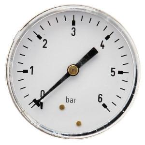 "Gasli Manometer Ø63 0-6bar ¼"" achter - MA636B04ST | Achter | 0 6 bar | 63 mm"