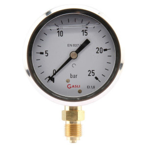 "Manometer Ø63 0-6bar ¼"" onder - MA636L04SSGF 