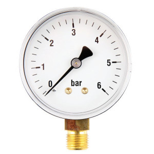 "Gasli Manometer Ø63 0-6bar ¼"" onder - MA636L04ST 
