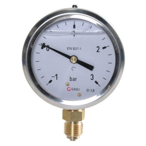 "Manometer Ø63 -1-+3bar ¼"" onde - MAV630130L04SSGF 