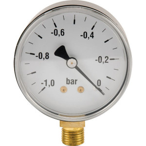 Manometer vak. Ø63mm - MAV6301L04ST | -1 +3 bar | 63 mm