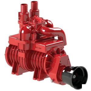 Battioni Pagani Compressor dubbele tankaansl. BP - MEC6500MDU | 420 m³/h | 7.000 l/min | 540 Rpm | 2,5 bar | 0,94 bar | 24 kW max. druk | 12,5 kW max. vacuum | 658 mm | 410 mm | 597 mm | 276 mm | 252 mm | 130 mm | 227 mm | 195 mm | 693 mm | 637 mm | 215 m
