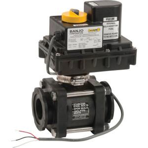 "Banjo Elektr. 2-wegventiel 2"" - MEV220CF | 10 bar | 2"" Inch | 2"" | Stainless steel 316 | 1,25 sec | cable Kabel / Connector"