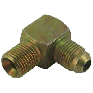 "Burnett & Hillman Adapter 1/4x1/2 BSP/JIC - MM9004J08K | Staal. | D.m.v. 74° conus. | Vlgs. BS 1580. | Verzinkt | 380 bar | 1/4 BSP | 1/2"" JIC"