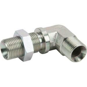 "Alfagomma Bulkhead Adapter 90° 3/8""BSP - MM9006BH   3/8"" BSP mm"