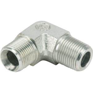 Verb-stk m AG BSP3/8-MC3/8-90° - MMC9006K | D.m.v. 60° conus | Verzinkt