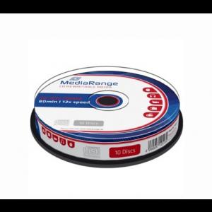 MediaRange CD-RW schijven, 700 Mb / 80 minuten opslagruimte, snelheid 12x, 10 stuks, cakebox verpakking