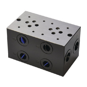 "Eurofluid Voetplaat boring NG6 - MR32GZC | Max. 40 l/min | 120 mm | 108 mm | 1/2"" BSP | 3/8"" BSP | 80 l/min"