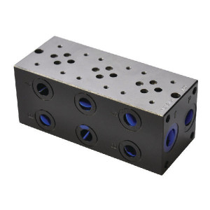 "Eurofluid Voetplaat MR3-3-G-Z NG6 - MR33GZ   Max. 310 bar bar   170 mm   158 mm   1/2"" BSP   3/8"" BSP   80 l/min"