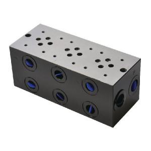 "Eurofluid Voetplaat boring NG6 - MR33GZC | Max. 40 l/min | 170 mm | 158 mm | 1/2"" BSP | 3/8"" BSP | 80 l/min"