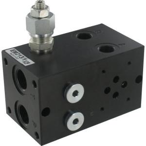 """Eurofluid Voetplaat EM213 - DBV 50-210 Bar - MR41GZ   SDC8-2 boorpatroon   3,5 kg   50 210 bar   1/2"""" BSP   3/8"""" BSP"""