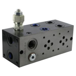 """Eurofluid Voetplaat EM213-2/DBV 50-210 Bar+optie2/2 - MR42GZC   SDC8-2 boorpatroon   50 210 bar   1/2"""" BSP   3/8"""" BSP"""