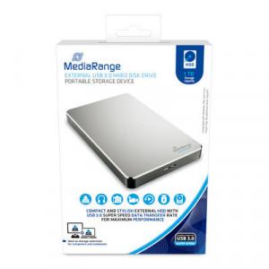 MediaRange Externe Harde schijf - Hard Disk Drive - MR996 | USB 3.0 | 1 TB | 122.8 x 76.2 x 13.2 mm | 175 gram |