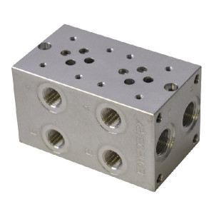 Eurofluid Voetplaat MRA3-2-G-Z NG6 ALU - MRA32GZ | Aluminium | Max. 210 bar bar | Max. 40 l/min | 120 mm | 108 mm | 3/8 1/2 BSP