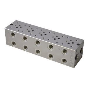 Eurofluid Voetplaat MRA3-5-G-Z NG6 ALU - MRA35GZ | Aluminium | Max. 210 bar bar | Max. 40 l/min | 270 mm | 258 mm | 3/8 1/2 BSP