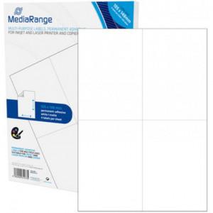 Huismerk etiketten, 200 stuks, 50 vellen, 105x148mm, wit
