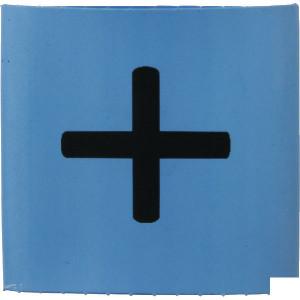Slangmarkering 25mm blauw plus - MT25BUP | Krimpkous