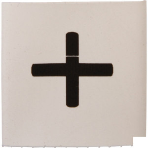 Slangmarkering 25mm wit plus - MT25WHP | Krimpkous
