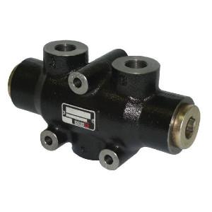 Bucher Stroomverdeler 12-25 l/min - MTDA08025 | Dubbelwerkend systeem | Gietijzeren huis | 315 bar | 120 mm | 315 bar | 25 l/min | 12 l/min | 45 mm | 7 mm | M18 x 1.5 | M18 x 1.5