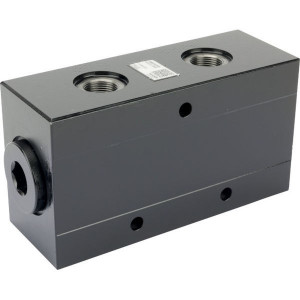 Bucher Stroomverdeler 35-100 l/min - MTDA16100 | Dubbelwerkend systeem | Gietijzeren huis | 315 bar | 192 mm | 315 bar | 100 l/min | 35 l/min | 100 mm | 70 mm | 9,5 mm | M27 x 2 | M22 x 1.5