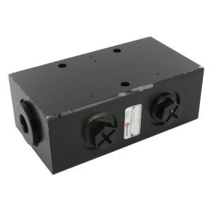 Bucher Stroomverdeler 50-160 l/min - MTDA16160M | Dubbelwerkend systeem | Gietijzeren huis | 315 bar | 192 mm | 315 bar | 160 l/min | 50 l/min | 100 mm | 70 mm | 9,5 mm | M33 x 2 | M27 x 2