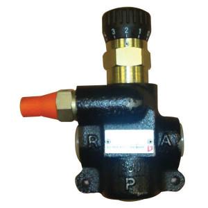 Bucher 3-Weg stroomr.vent. 0-65 l/min - MTQA2VDM08 | M22 x 1,5 | Handwiel | 65 l/min | 65 l/min | 50 300 bar