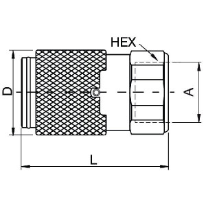 "Parker Koppeling 1"" - NS100116FB | 1.75 mm | 1"" Inch | 57,2 mm | 96,8 mm | 1"""