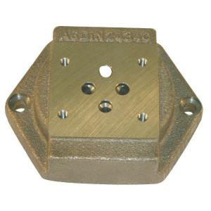 Voetplaat NW6 DIN 24340 - NW6L | Max. 35 l/min | 35 l/min | 3/8 BSP | Bottom ports