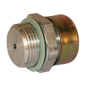 Mintor Ontluchtingsfilter M12x1,5 - OF12M | Verzinkt staal | BUNA-N | Schroefmontage | Verzinkt | D.m.v. metaal gaas
