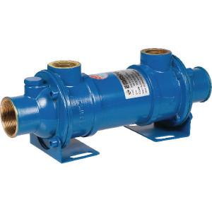 "Emmegi Waterkoeler MG- 80- 150-1 - OKMG8001501 | Fe 510.2 | 120 °C | 12 bar | 18 bar | 4,5 kg | 150 mm | 321 mm | 141 mm | 650 cm³ | 25 75 l/min | 1"" BSP"