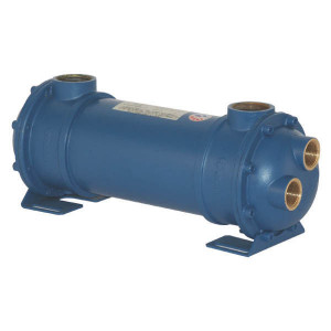 "Emmegi Waterkoeler MG- 80- 150-4 - OKMG800150 | Fe 510.2 | 120 °C | 12 bar | 18 bar | 4,5 kg | 150 mm | 273 mm | 148 mm | 650 cm³ | 25 75 l/min | 1"" BSP"