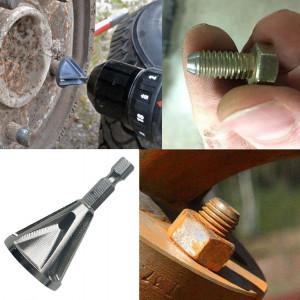 Boormachineadapter voor ontbramen / afschuinen van draadeinden, schroefdraden en assen