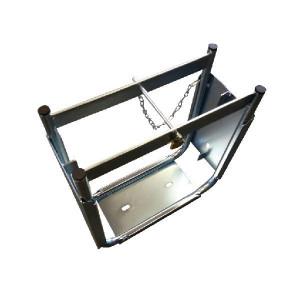 LuxTek Stempelplaatbox dubbel - PBD406E | De stalen box is verzinkt