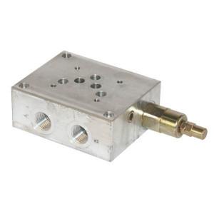 Walvoil Voetplaat NG10 - PBL10VMP | Aluminium | max. 210 bar bar | Max. 60 l/min | 60 l/min | 125 mm | 10 mm | 100 mm | 39,5 mm | 42,5 mm | 50 220 bar | 1/4 Inch BSP | 1/2 BSP