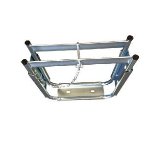 LuxTek Stempelplaatbox enkel - PBS406E | De stalen box is verzinkt