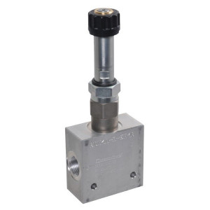 "Comatrol 3-weg Flow P-gecomp. NC 1/2"" - PFC10PC400000BSE4B | Huis met patroon. | 1/2 BSP | Aluminium | 40 l/min | 0-40 l/min"