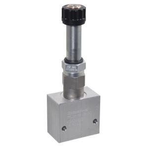 "Comatrol 2-weg Flow P-gecomp. NO 3/8"" - PFC10RO300000BDG3B | Huis met patroon. | 260 bar | 30 l/min | 0-30 l/min | 3/8 BSP | Aluminium"