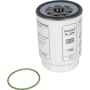 MANN-FILTER Brandstofwisselfilter - PL270X | 108 mm | 150 mm H | 1-14 UNS G | S 80 X 3 F | PL 270 x | 150 mm | PL 270 x | S 80 X 3
