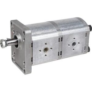 Casappa Pomp PLP20.14/20.14 D/FS EL - PLP201414D082E2 | 250 + 250 bar | 3000 Rpm omw./min. | 500 Rpm | 36.5 mm | 14+14 cc/omw