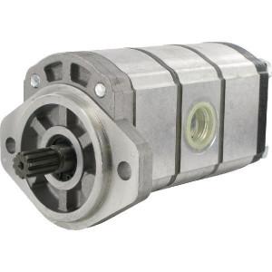 Casappa Pomp PLP20.4-01S1-LRD/20.6,3-LRM/RD/20.6,3-LRD-S7 D/FS-L S.T.C. - PLP204206206 | 4-gats flens, EN | Spline as Z=10 16/32 | 4 + 6 + 6 cc/omw | 82,55 mm