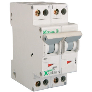 Eaton Installatie-automaat,16A,2P+2N - PLSNB162P2N