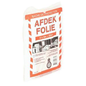 Afdekfolie 4x5 Mtr 0,01mm dik - PP377   Polyethyleen   transparant   0,01 mm