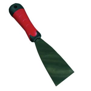 Het Melkmeisje Plamuurmes 60mm RVS 2-K handv - PP708060 | Met softgreep | Goede grip | Voor plamuren | Met ophanggat